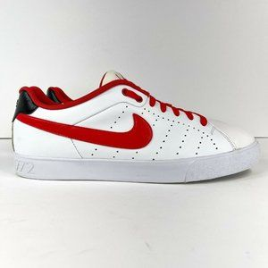 Nike Court Tour Men's Size 11 Athletic Leather Shoes White Red 458673-119